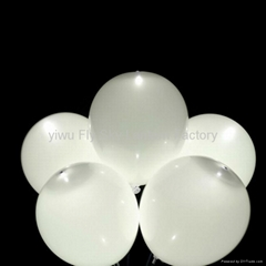 Hot sale white color led balloon with white led light for wedding decoration