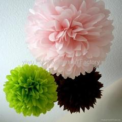 Tissue paper pom poms flower balls for wedding decoration
