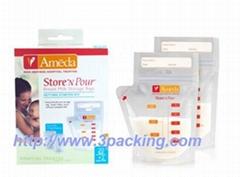 Cheap Laminated Breastmilk storage bags
