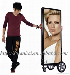 J2B-0001 [6hrs] Mobile outdoor advertising light box up to 6hrs battery