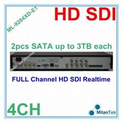 4ch Standalone SDI HD CCTV DVR Recorder