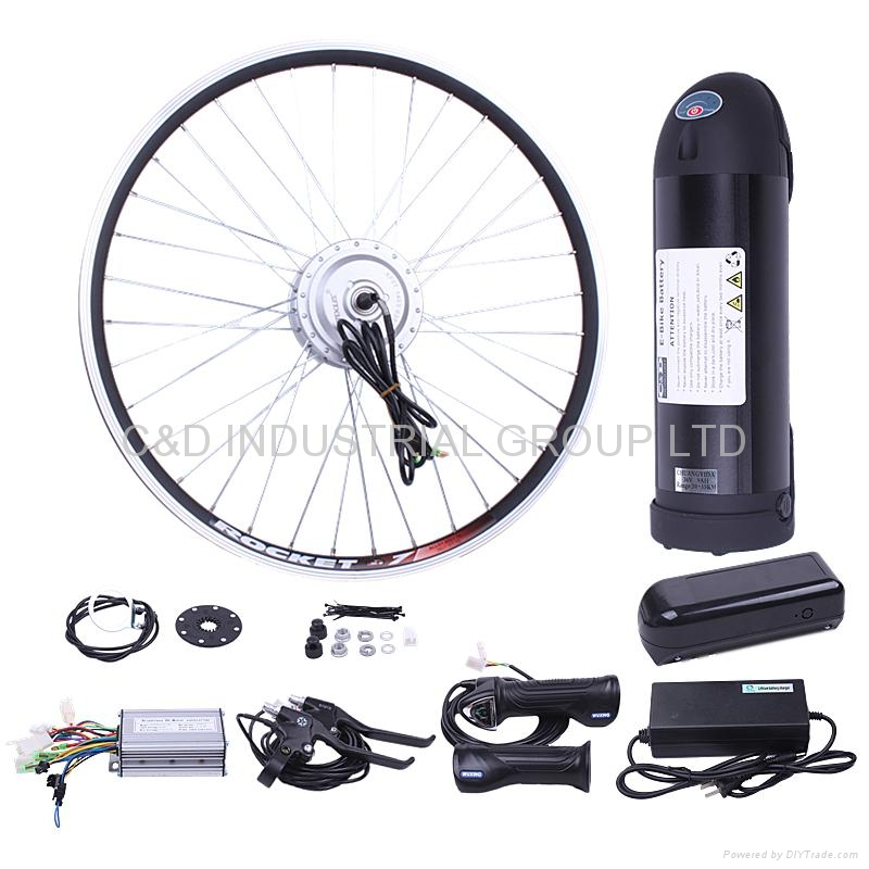 36V 250W electric bike conversion kit with 8-10AH bottle battery 1