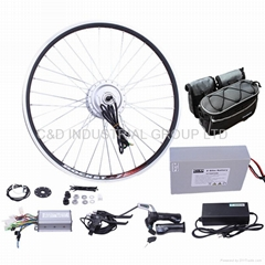 36V 250W electric bike conversion kit with 10AH front beam bag battery