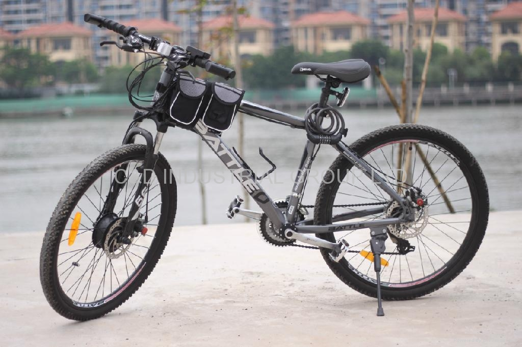 36V 250W electric bike conversion kit with 10AH front beam bag battery  2