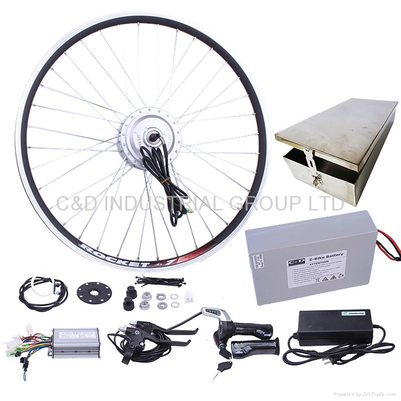 36V 250W electric bike conversion kit with 10AH rear box battery 1