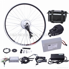 36V 250W electric bike conversion kit with 10AH handlebar bag battery