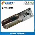 DC 24V/17rpm High-torque dc electrical worm gear reducer motor with gearbox