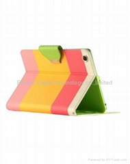 PU Leather Wallet Type Magnet Design Flip Cute Case for With Apple iPad Mini 7.9