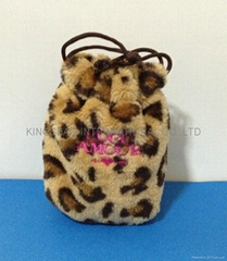 Leopard drawstring gift bag. jewellery bag