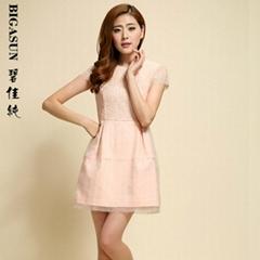 碧佳純2014春夏裝新款鏤空連衣裙