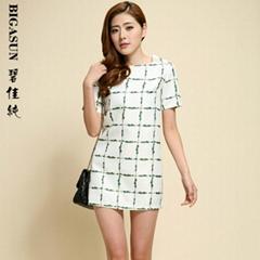 碧佳純2014春夏季新款連衣裙