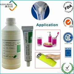 Room temperature silicone adhesive
