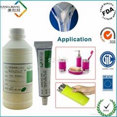 Room temperature silicone adhesive