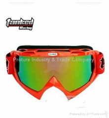Hotsale orange racing Motorcycle  googles