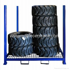 Stackable and Collapsible tyre Stillages with wire mesh