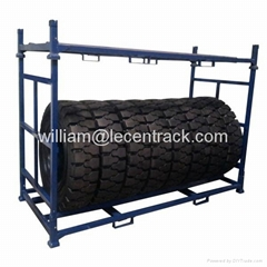 Stackable Folding Stillage Rack for Solid Truck Tires Storage