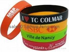 silicone bracelet wristband