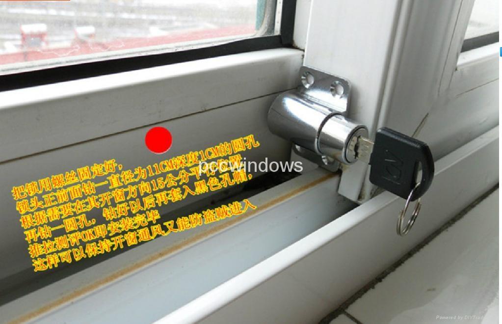 DIY Child safety window bolt lock /UPVC Sliding window space limter 2