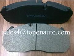 Low Metallic&Semi-Metallic Friction Material Brake Pad For MAN 29303