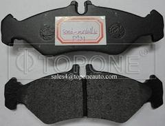 Low Metallic&Semi-Metallic Friction Material Brake Pad For Mecedes Benz GDB1262