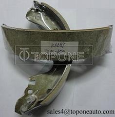 Low Metallic&Semi-Metallic Friction Material Brake Shoe for Mazda GS8581