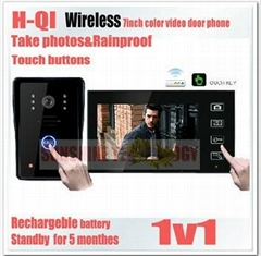 "New 7"" Wireless Color Door Phone Bell Video Handsfree Intercom Camera IR"