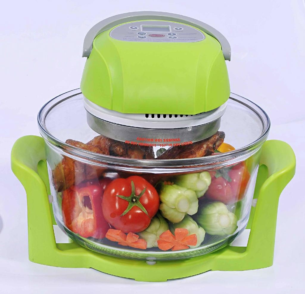 12L Digital Infrared Halogen Oven KM-806B with glass bowl 5