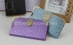 Glitter wallet leather case for samsung s5 i9600 wallet case (Hot Product - 1*)