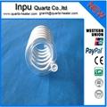 spiral quartz glass tubing  (helix ,spring quartz tube )
