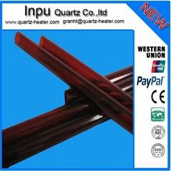 red quartz glass tube