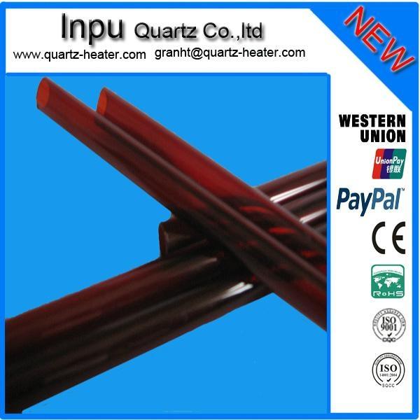 red quartz glass tube 1