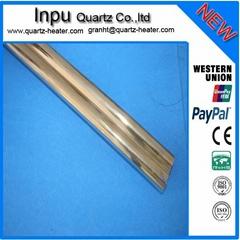 twin quartz tube ,double quartz glass tube