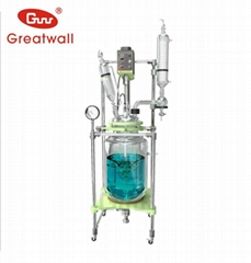 two-layer jacketed borosilicate glass reactor