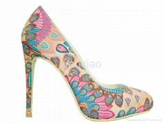 New Womens Colorful Feature Pattern High Heel Sexy Pumps