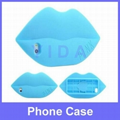 Funny Big Mouth/Kiss/Lip Silicone Cases Bags for Apple iPhone