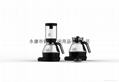 2 in 1 electric siphon coffee maker+1.0L glass kettle