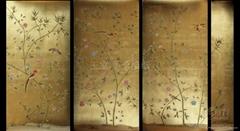 金箔手绘壁纸