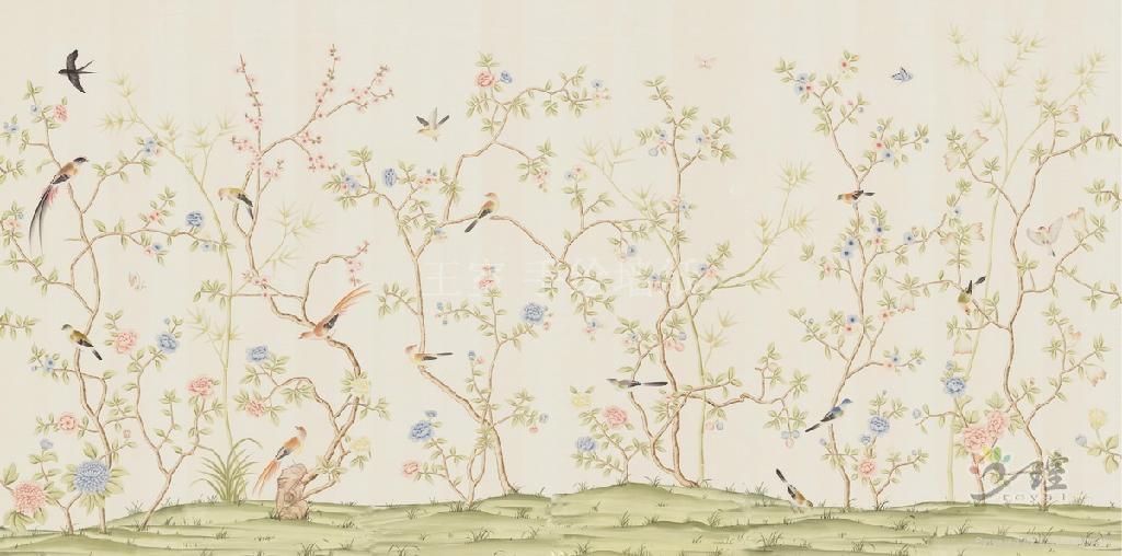 金箔手绘壁纸 2