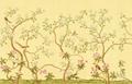 金箔手绘壁纸 4