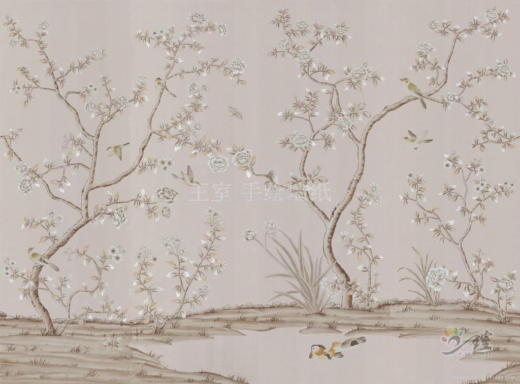 王室真丝手绘墙纸 3