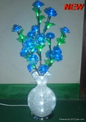 2014 Novelty NEW Round LED Crystal Acrylic Flower Vase Lights