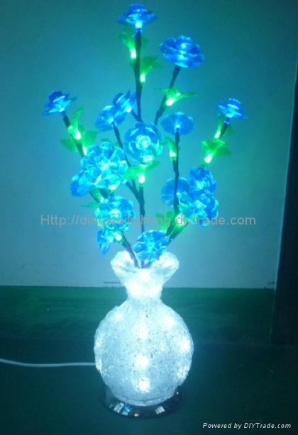 2014 Novelty NEW Round LED Crystal Acrylic Flower Vase