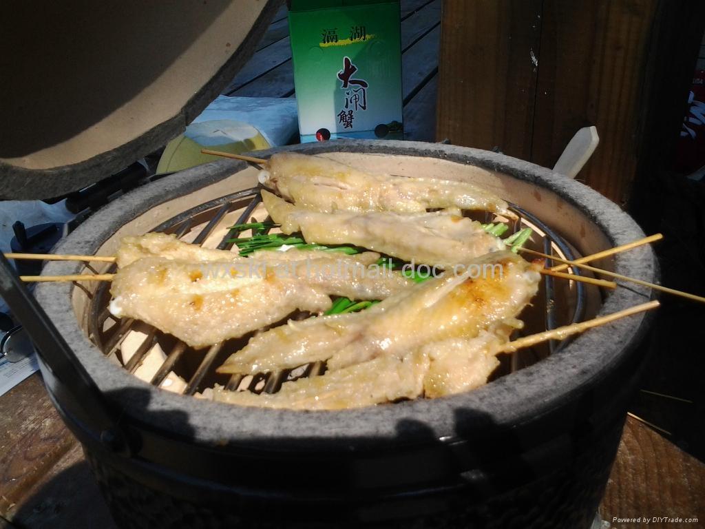 Egg Ceramic Bbq Grill Outdoor Garden Cooking Hcskl12m