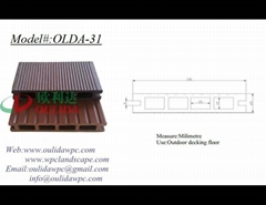 WPC decking OLDA-31  146*25MM