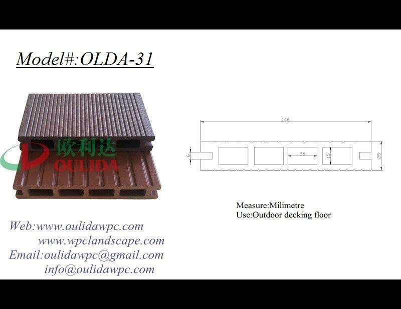 WPC decking OLDA-31  146*25MM 1