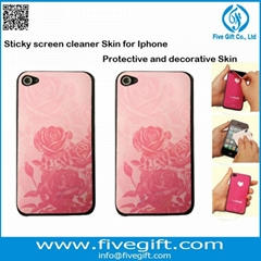 Sticky screen cleaner as iphone Ipad samsung protective decorative skin