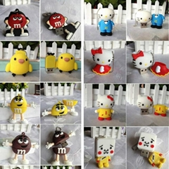 cartoon soft diy semc usb flash driver cute 4gb 8gb 16gb 32gb u disk