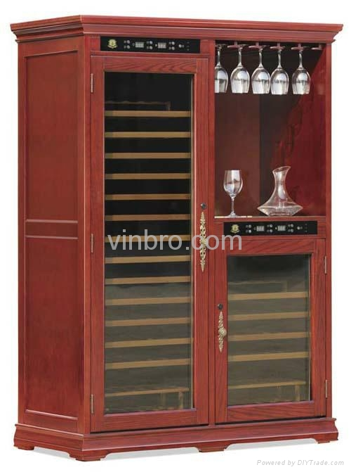 VinBro Climate Controlled Electronic Cigar Humidor Cabinet Wooden ...