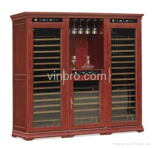 VinBRO Wooden Wine Cellar Cabinet Bar Furniture Electric Home Dispenser Coolers 5