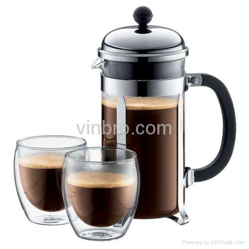 VinBRO French Press Coffee Maker Fully Espresso Coffee Machine Commercial  1